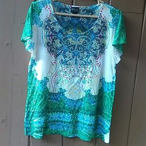 Pretty Boho Style & Co Shirt